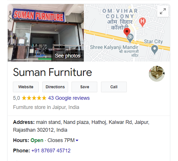 Google My Business Map Result