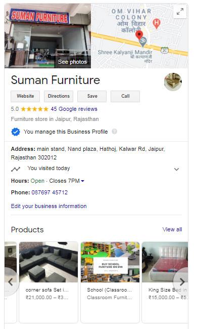 google my business setup services